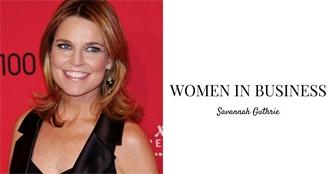 Women In Business Spotlight: Savannah Guthrie