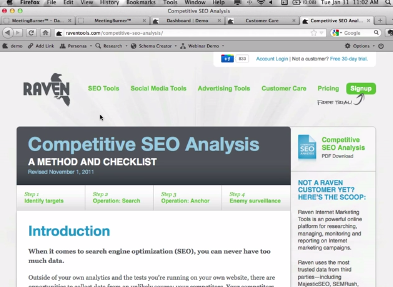 Analyze Your Competition's SEO